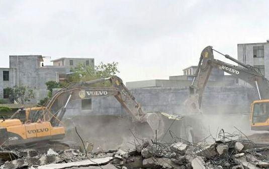 海口美兰区依法拆除18宗违建 总面积九千余平方米 ...