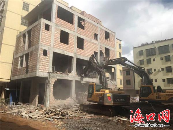海口灵山棚改项目内3宗违建被拆除 总面积1007 ...