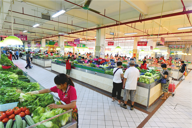 强管理保食安 海口打造食品安全放心农贸市场