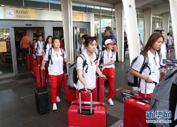 (大运会)(2)中国大学生体育代表团抵达意大利