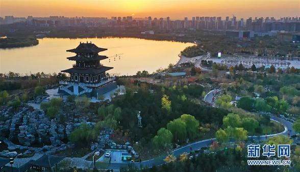 (环境)(2)河北唐山:南湖初冬美如画