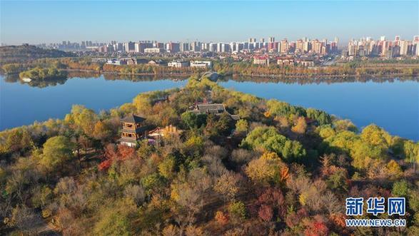 (环境)(4)河北唐山:南湖初冬美如画