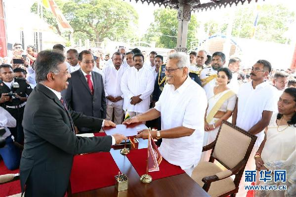 (国际)(1)拉贾帕克萨宣誓就任斯里兰卡总统