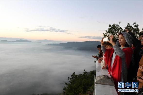 (環境)(1)云南寧洱:壯美的冬季云海