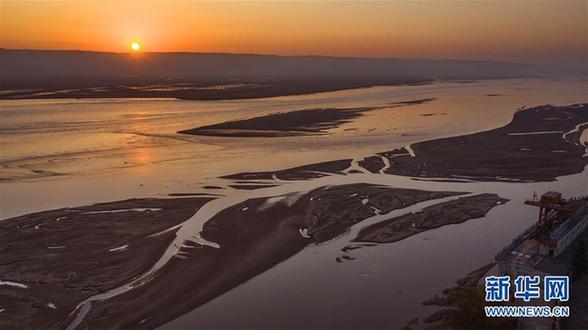 (美麗中國)(1)黃河日出 景色迷人