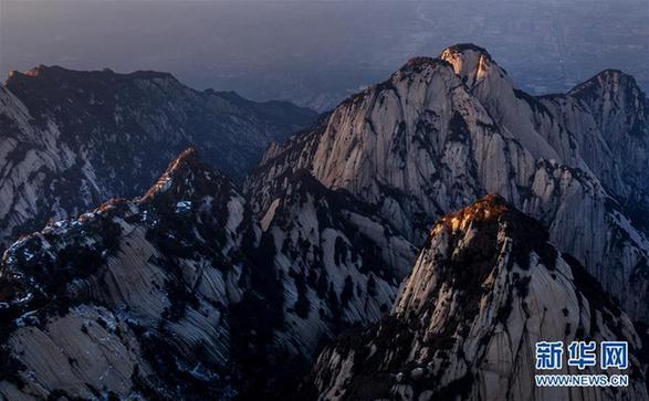 (美丽中国)(2)晚霞中的西岳华山