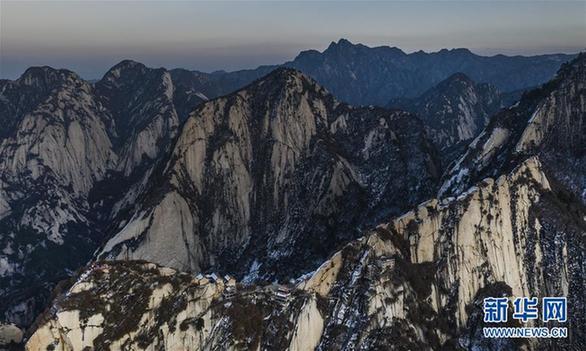 (美丽中国)(7)晚霞中的西岳华山
