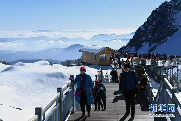 (环境)(8)云南丽江:玉龙雪山景色壮美