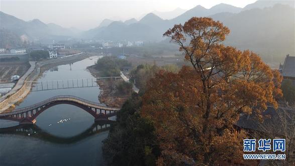 (环境)(2)安徽:龙川冬晨美如画
