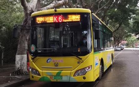 海口公交集团12月30日起开通K6路公交线路