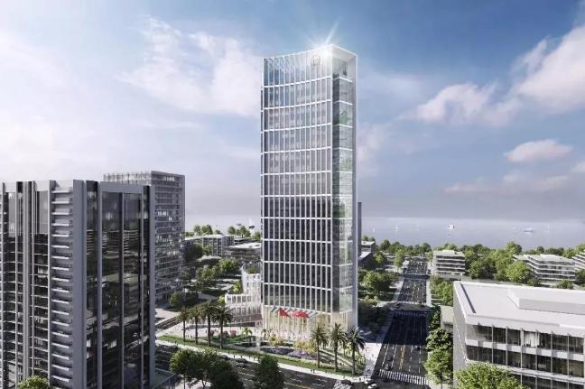 中石化将在海口江东新区设立区域总部 150米高自贸大厦设计图亮相
