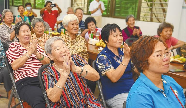 海口港社区老年人日间照料中心提供多项暖心服务