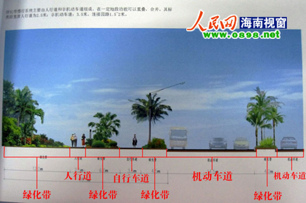 滨海西改造效果图曝光 已设计非机及人行道