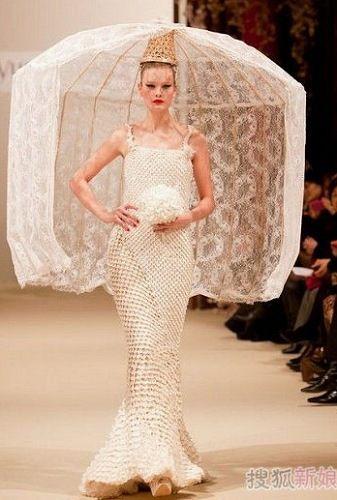 中西文化结合的婚纱图片