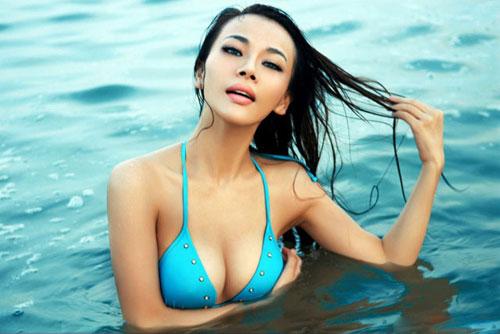 比基尼女郎海边湿身图片频道 500