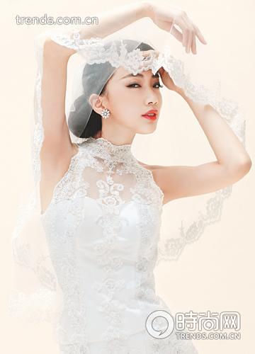 韩式头纱造型步骤图解
