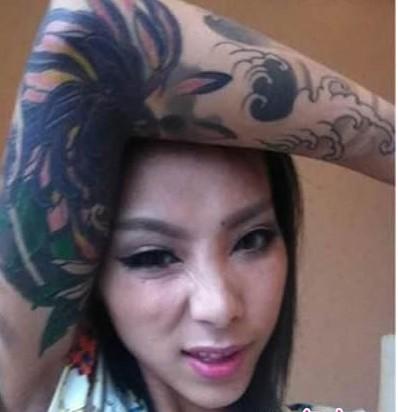 史上最霸气新娘纹身叼烟