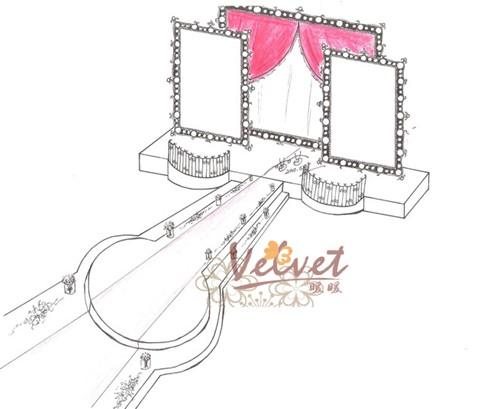 高档山庄舞台设计图