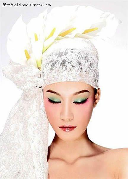 头纱派新娘头饰-时尚新娘的魅力头饰图片