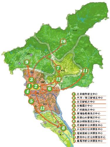 广州塔手绘地图