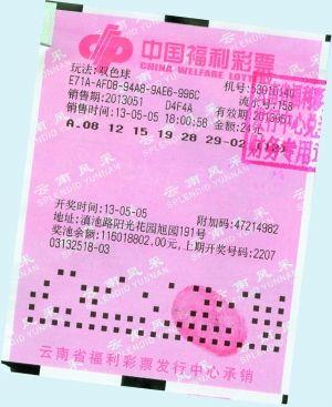 云南6574万得主和中奖彩票.云南省福彩中心供图