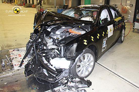 雷克萨斯is 300h油电混合动力车拥有最为全面的撞击表现