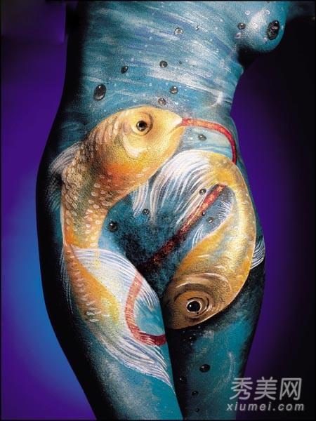 人体艺术日本摄影棚_引爆眼球的人体彩绘