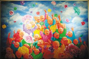 春》(油画) 方力钧-当代艺术的解读