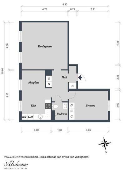 平面布置图-绚丽墙面打造60平米单身公寓