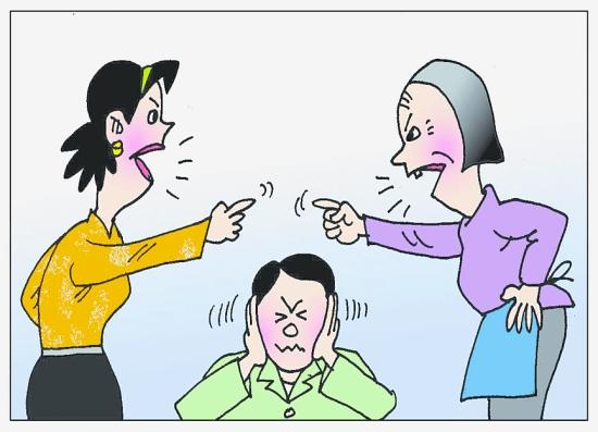 婆媳吵架_婆婆儿媳卡通图片展示_婆婆儿媳卡通相关图片下载