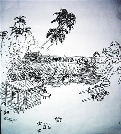 国画 简笔画 手绘 线稿 400_443