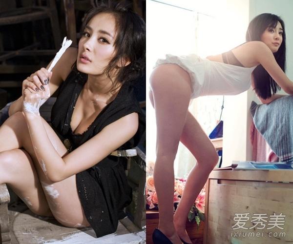 时尚 减肥    总说杨幂的美胸惊人,其实最吸引人的当属杨幂的翘臀.