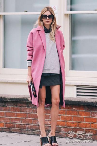 粉红色大衣