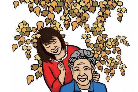 老母亲卡通图片