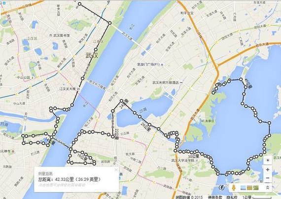 2016武汉马拉松比赛路线
