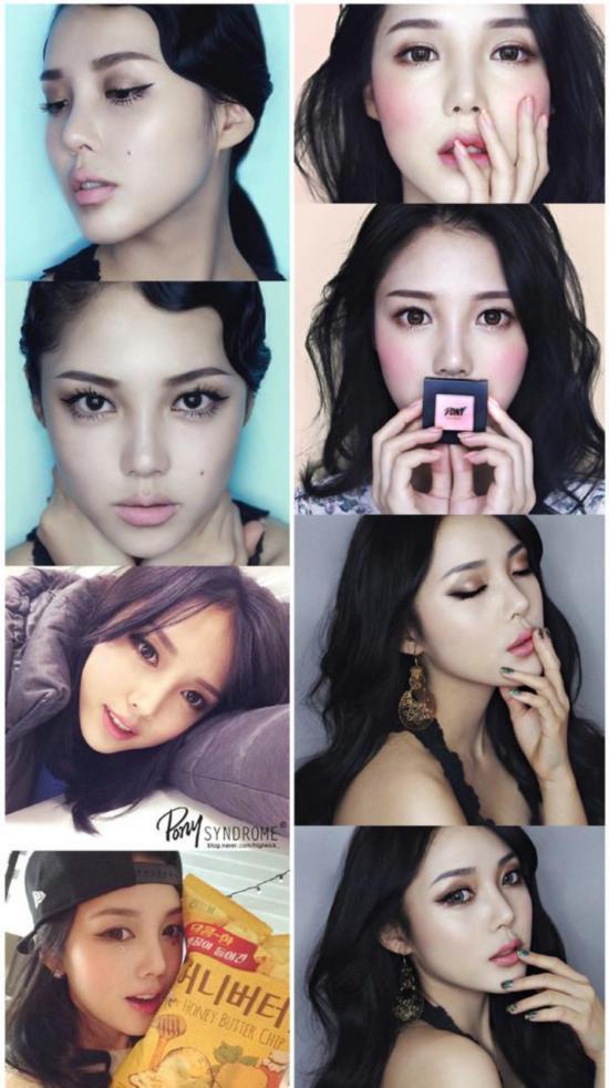 韩国最会化妆的妹子也最会弄头发 pony的无敌发色图片