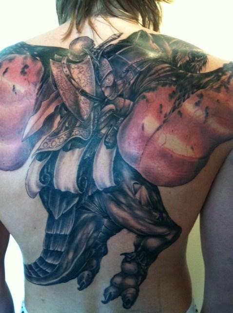 基里连科的纹身
