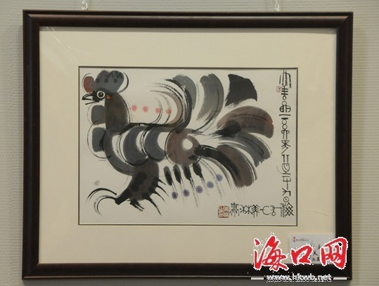 著名画家韩美林作品.(记者 张俊其摄)