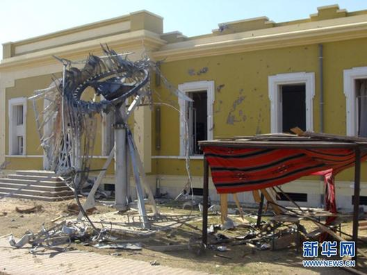 北约轰炸利比亚国家电视台