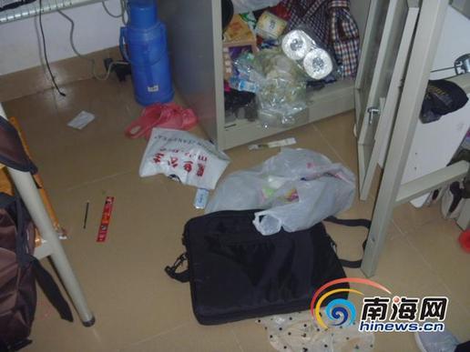 三亚琼州学院10个寝室被盗 保安生擒4个9岁小偷图片