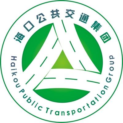 """徽标以字母hk(海口)与汉字""""公""""为设计元素"""