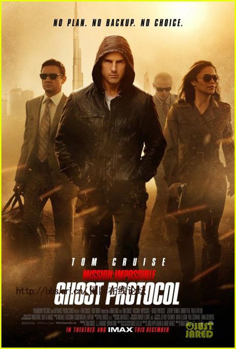 图片说明:《碟中谍4》宣传海报