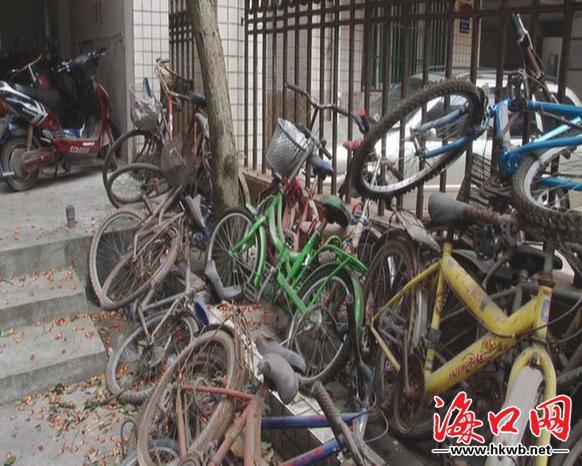 口 电动车抢占停车位 小区自行车 无家可归