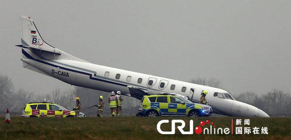 爱尔兰都柏林一架飞机降落时发生事故