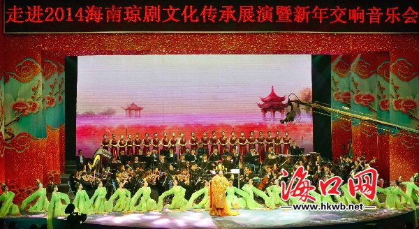琼剧与交响乐演绎新年乐章 韩美刘庆声观看演出