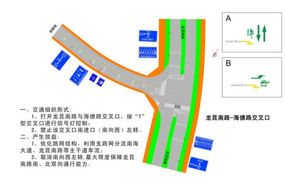 海口龙昆南路与海德路口红绿灯4月7日试运行