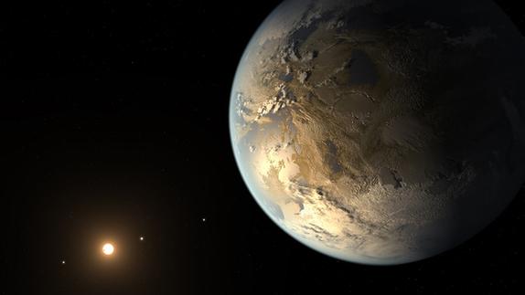 美国国家航空航天局(nasa)日前宣布首次在太阳系外发现与地球差不多大图片