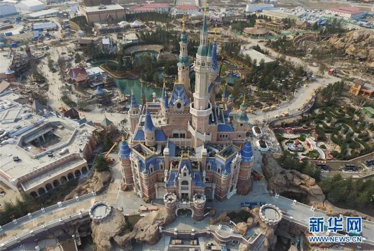 上海迪士尼乐园全景俯视图曝光