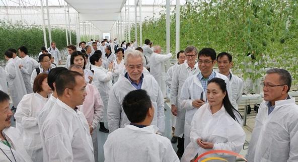 百余名中外专家参观海南陵水现代农业示范基地