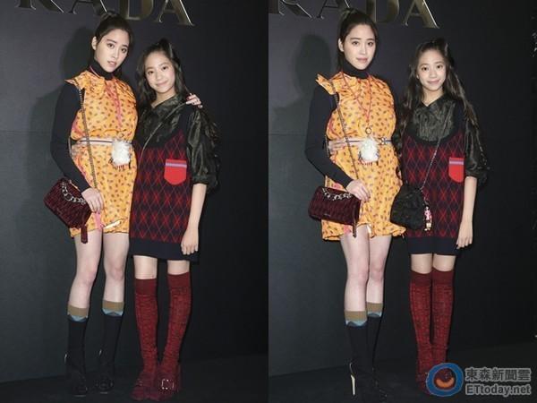 娱乐快报  欧阳妮妮在脸书上po出的照片中,其中一张妹妹欧阳娣娣露出图片